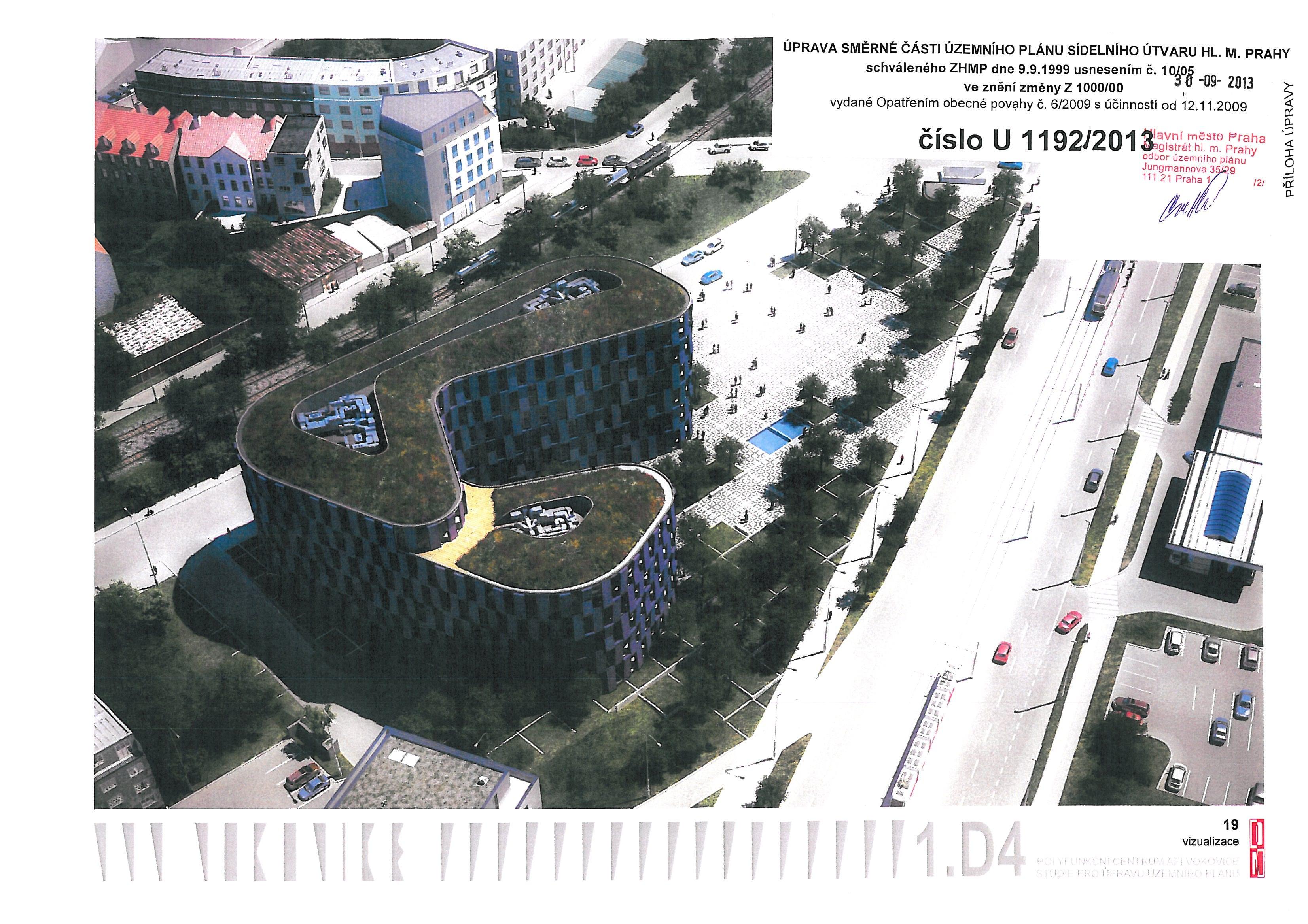 AFI Vokovice - Praha pokračuje ve výprodeji zelených ploch developerům pro stavbu kanceláří