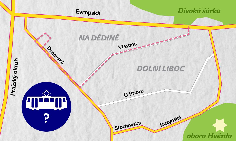 Zelení podporují zavedení tramvaje na Dědinu za předpokladu zapracování připomínek místních občanů